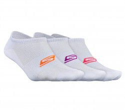 Womens 3 pk No Show Strech socks