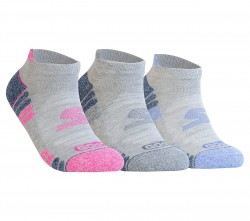 Womens 3 pk Perf Gray Color Pop
